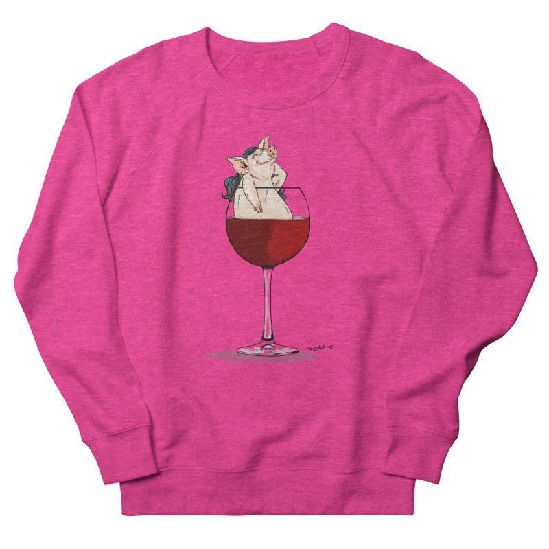 Wine Night  Women's French Terry Sweatshirt by Pigment World Artist Shop