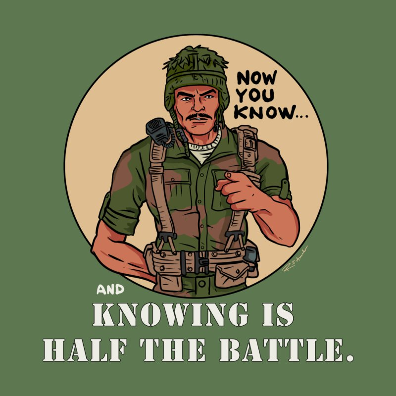 Knowing is Half The Battle Men's V-Neck by Pigment World Artist Shop