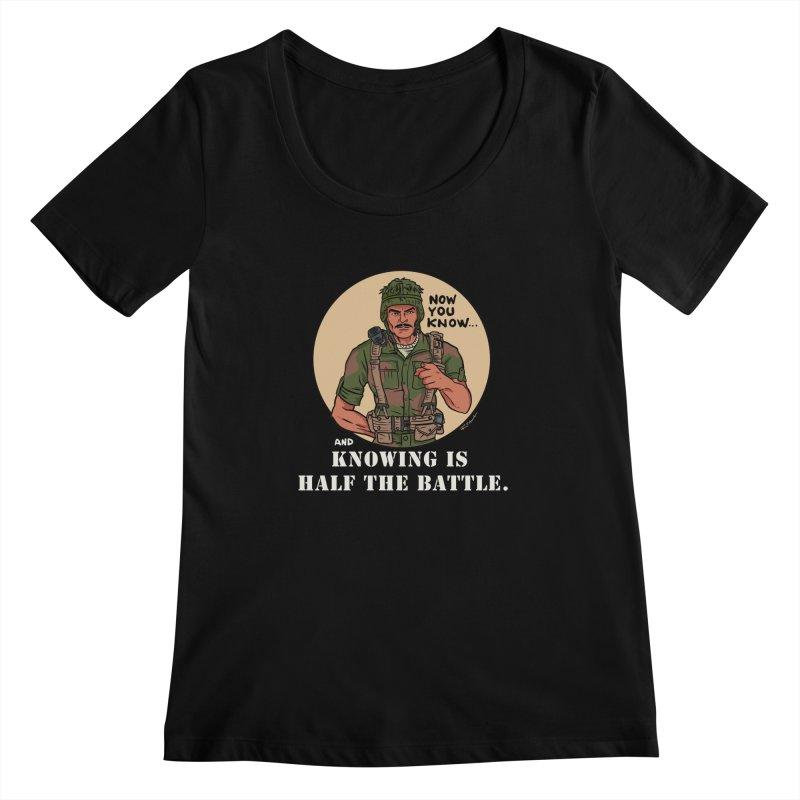 Knowing is Half The Battle Women's Regular Scoop Neck by Pigment World Artist Shop