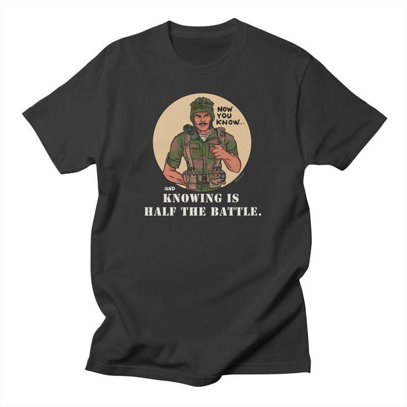 Knowing is Half The Battle Men's T-Shirt by Pigment World Artist Shop