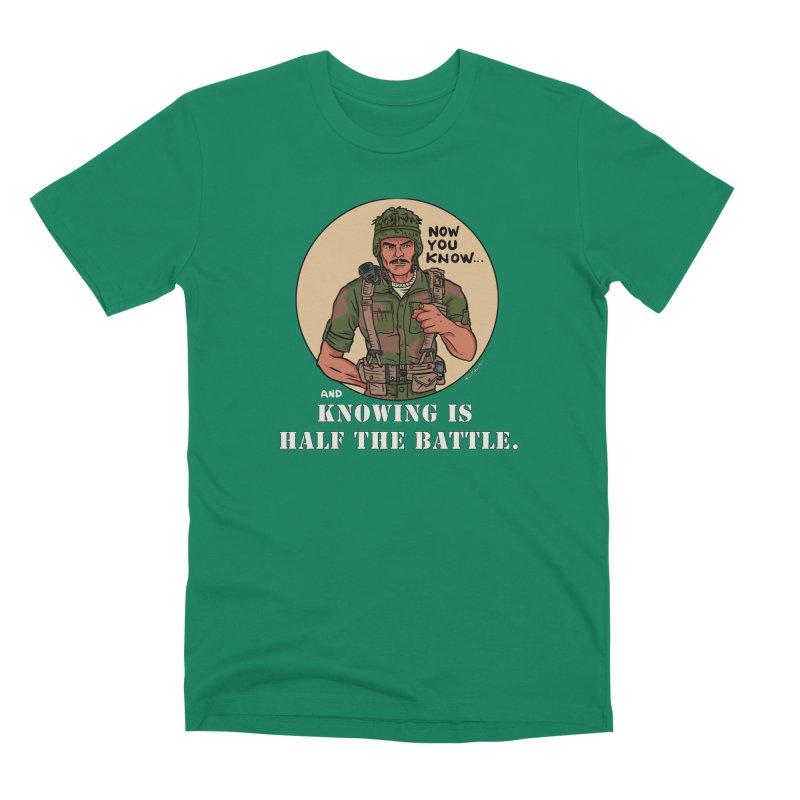 Knowing is Half The Battle Men's Premium T-Shirt by Pigment World Artist Shop