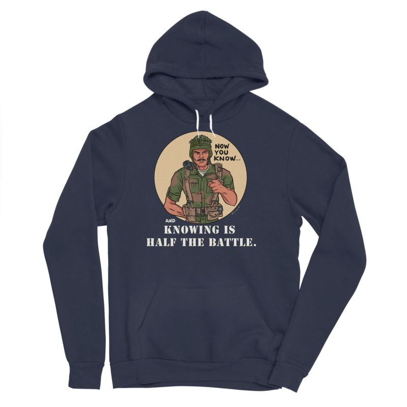 Knowing is Half The Battle Men's Sponge Fleece Pullover Hoody by Pigment World Artist Shop