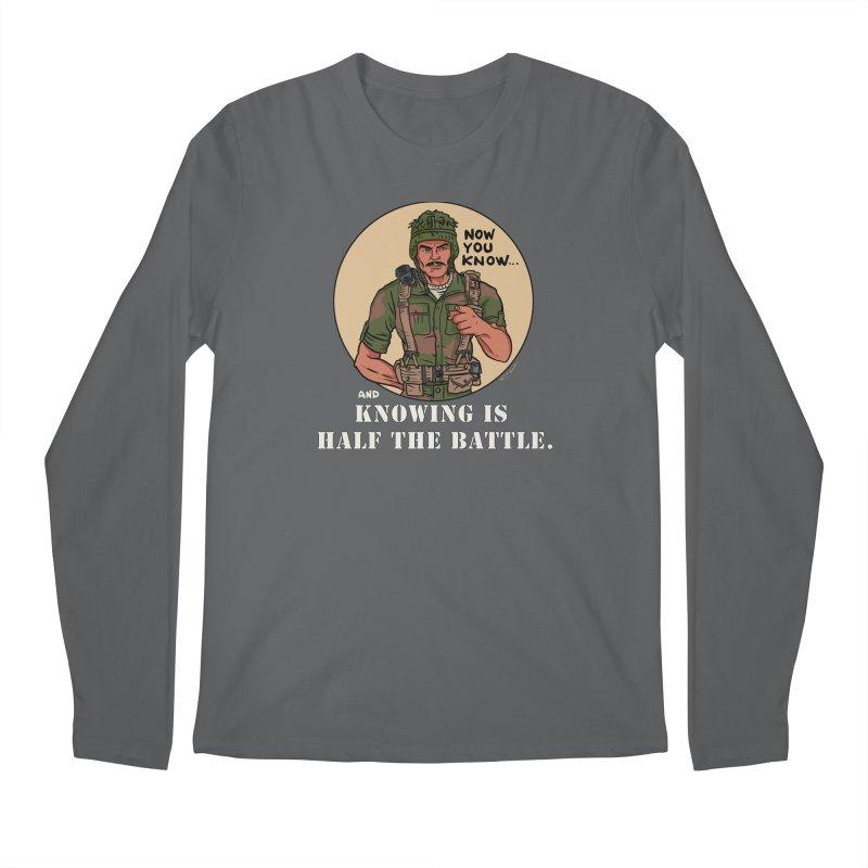 Knowing is Half The Battle Men's Longsleeve T-Shirt by Pigment World Artist Shop