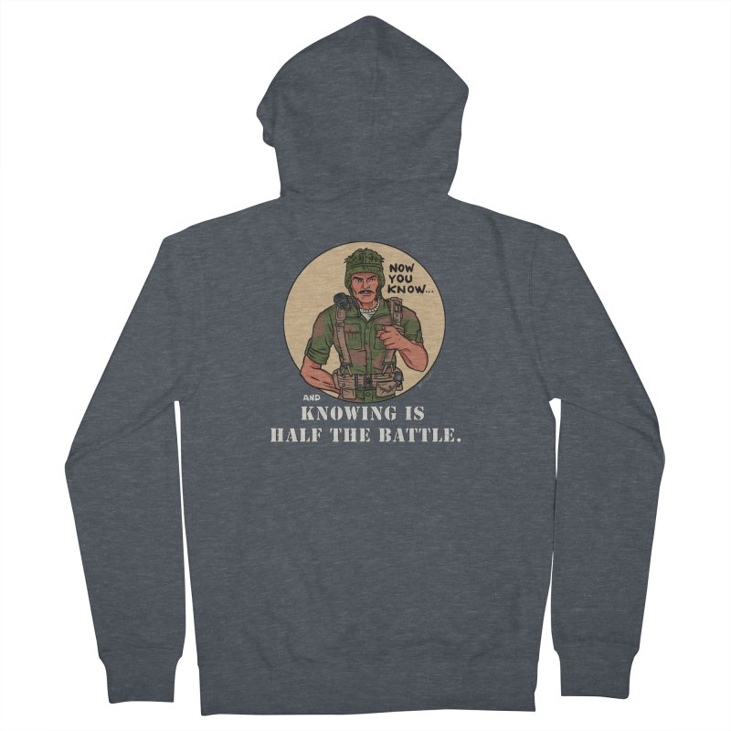 Knowing is Half The Battle Men's French Terry Zip-Up Hoody by Pigment World Artist Shop
