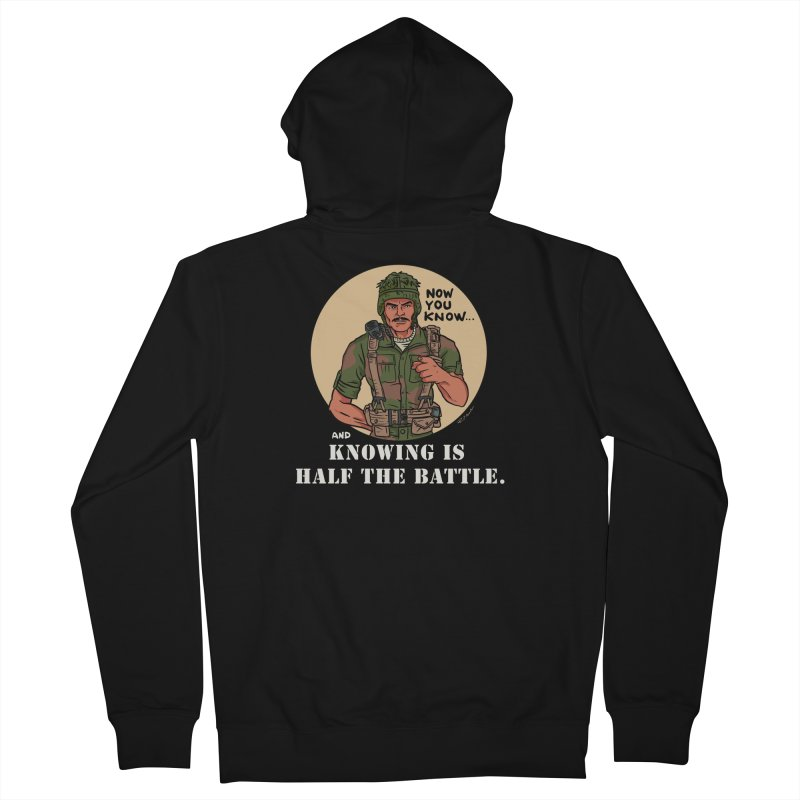 Knowing is Half The Battle Men's Zip-Up Hoody by Pigment World Artist Shop