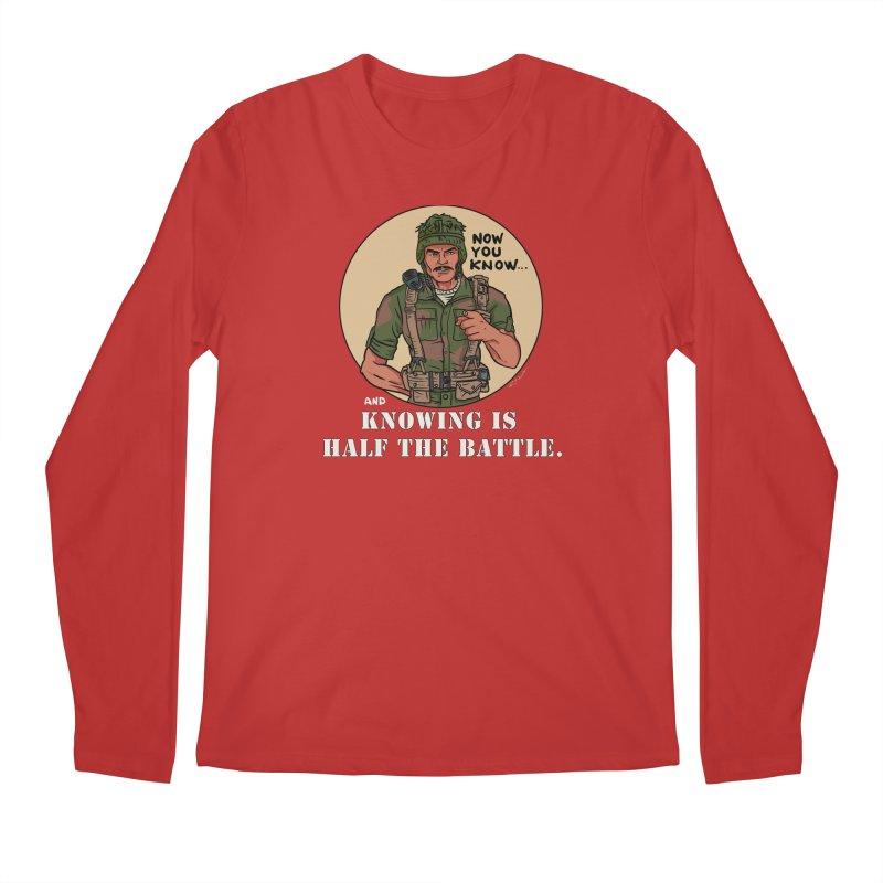 Knowing is Half The Battle Men's Regular Longsleeve T-Shirt by Pigment World Artist Shop