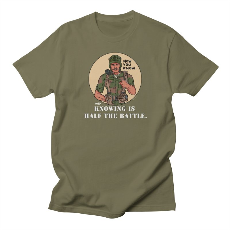 Knowing is Half The Battle Men's Regular T-Shirt by Pigment World Artist Shop