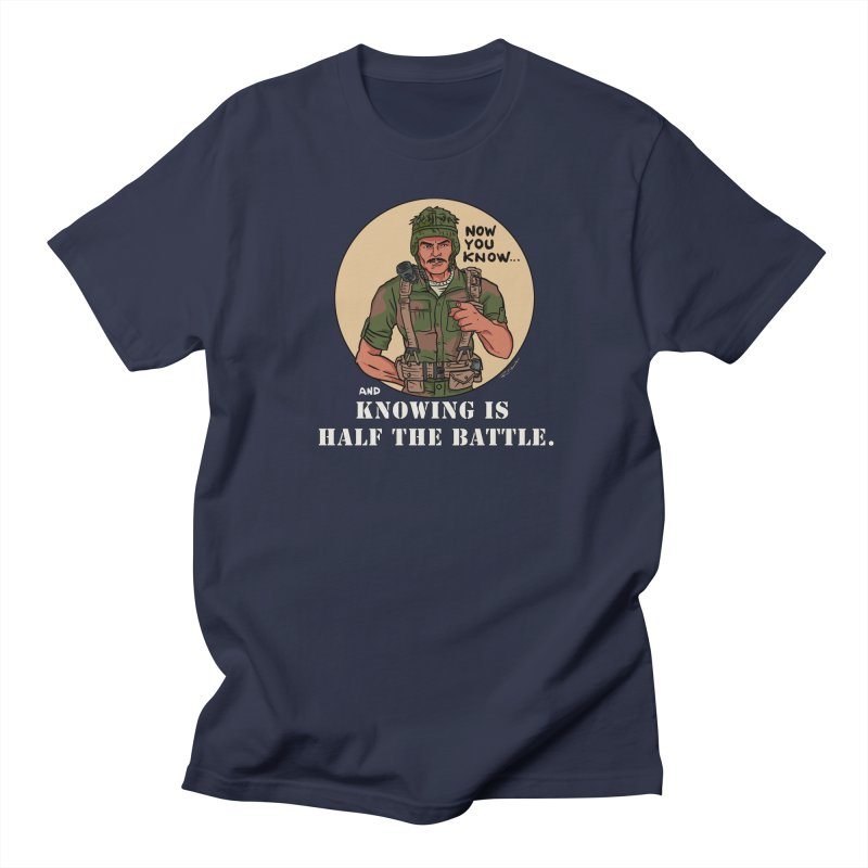 Knowing is Half The Battle Men's Regular T-Shirt by Pigment World Artist Shop