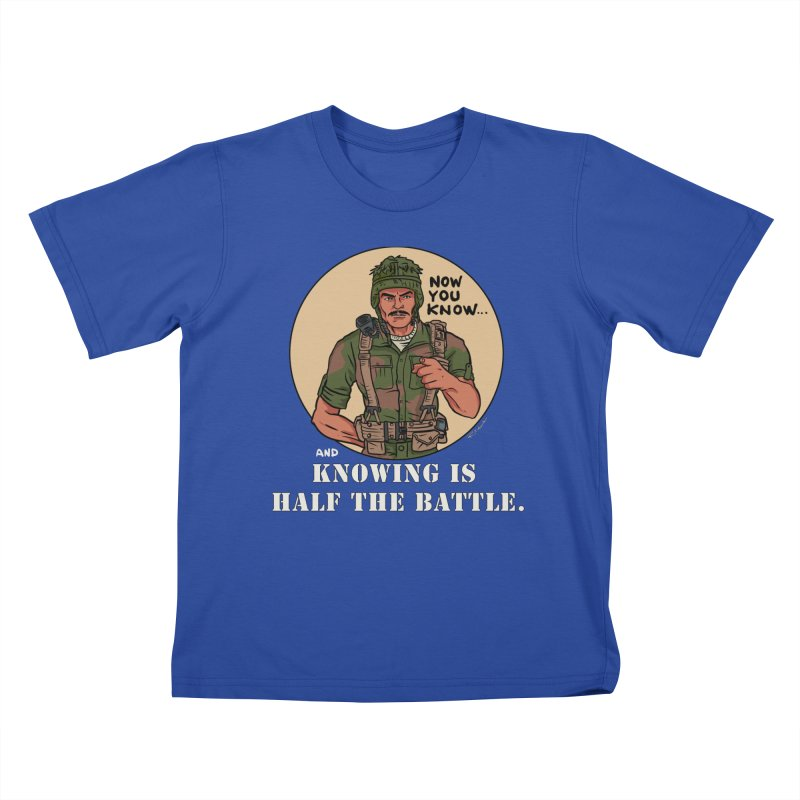 Knowing is Half The Battle Kids T-Shirt by Pigment World Artist Shop