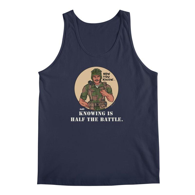 Knowing is Half The Battle Men's Regular Tank by Pigment World Artist Shop