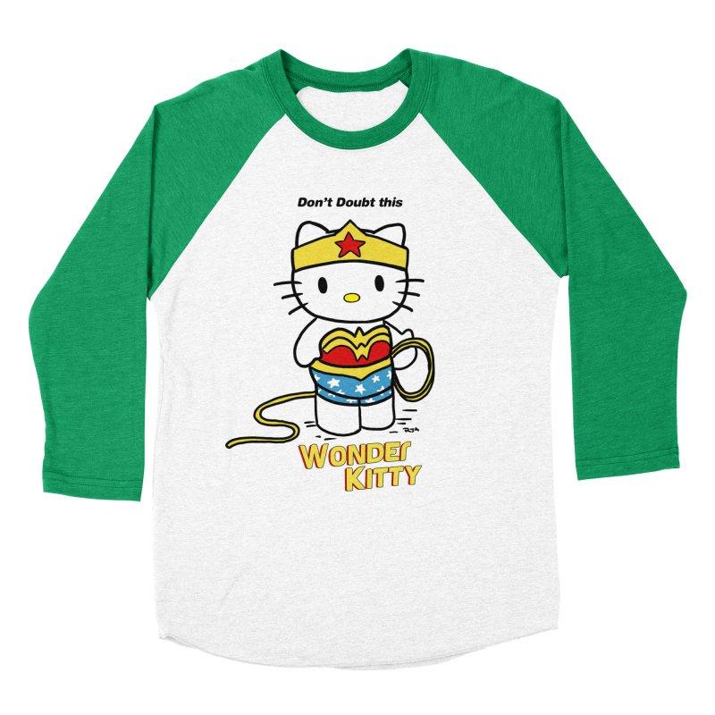 Wonder Kitty Women's Baseball Triblend T-Shirt by rjamadoart's Artist Shop