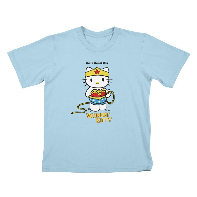 Wonder Kitty Kids T-Shirt by Pigment World Artist Shop