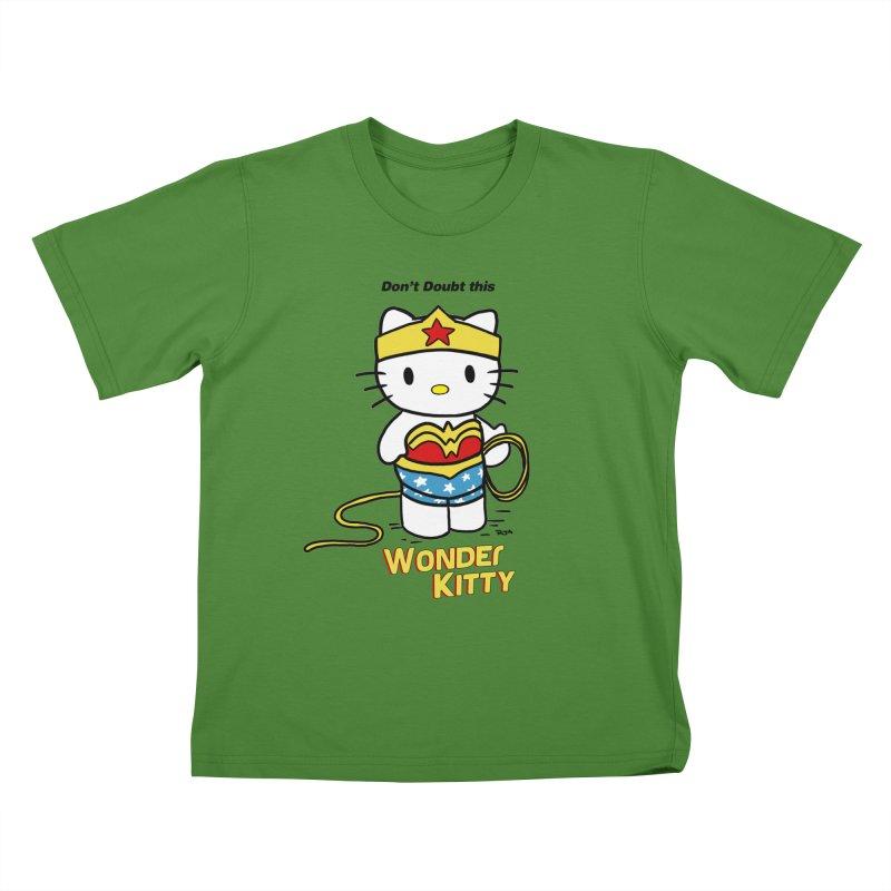 Wonder Kitty Kids T-shirt by rjamadoart's Artist Shop