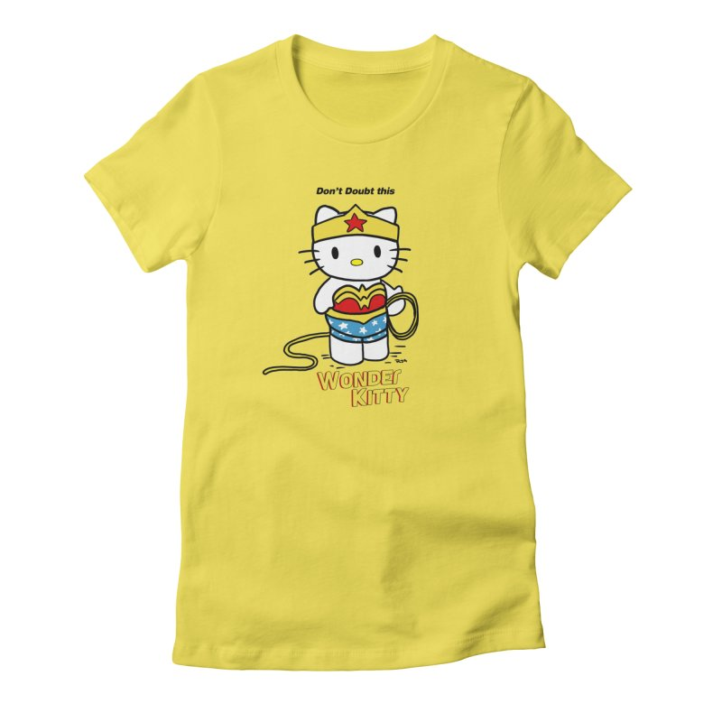 Wonder Kitty Women's T-Shirt by Pigment World Artist Shop