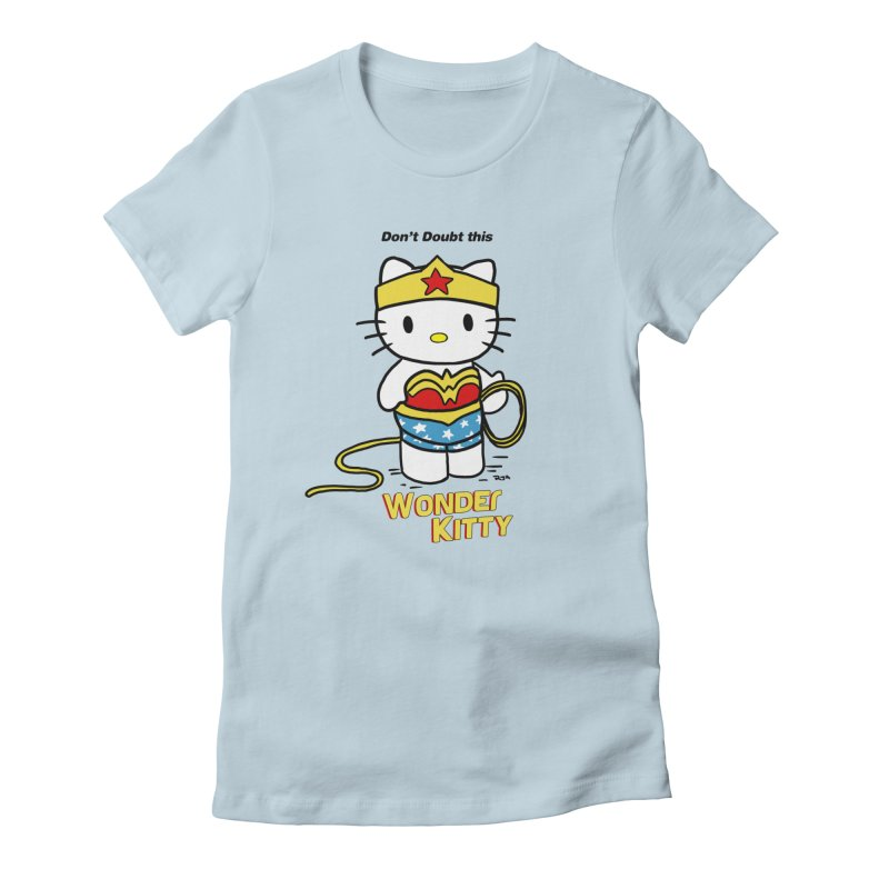 Wonder Kitty Women's Fitted T-Shirt by rjamadoart's Artist Shop