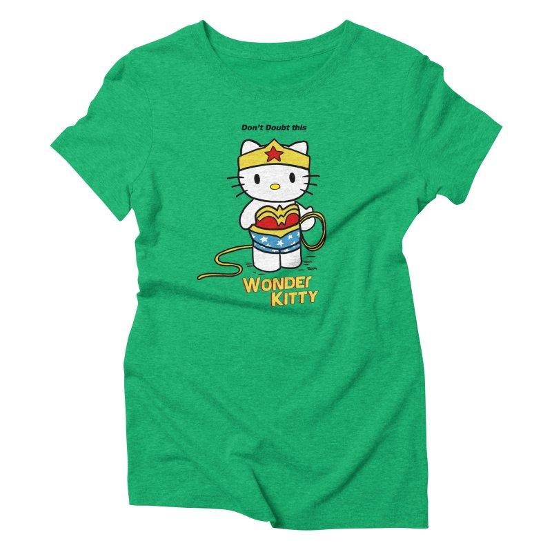 Wonder Kitty Women's Triblend T-Shirt by Pigment World Artist Shop