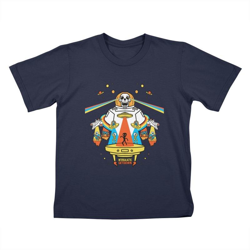 Intergalactic Get Down Kids T-Shirt by RJ Artworks's Artist Shop