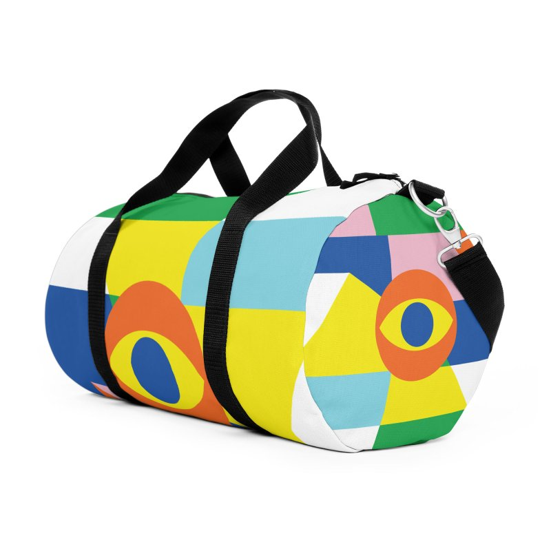 Abstract Eye Accessories Duffel Bag Bag by RJ Artworks's Artist Shop