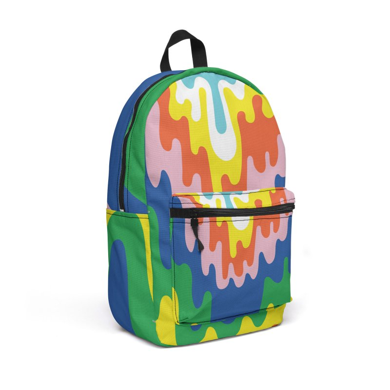 Psychedelic Meltdown Accessories Backpack Bag by RJ Artworks's Artist Shop