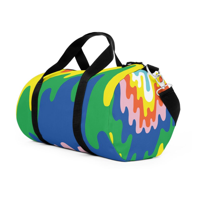Psychedelic Meltdown Accessories Duffel Bag Bag by RJ Artworks's Artist Shop