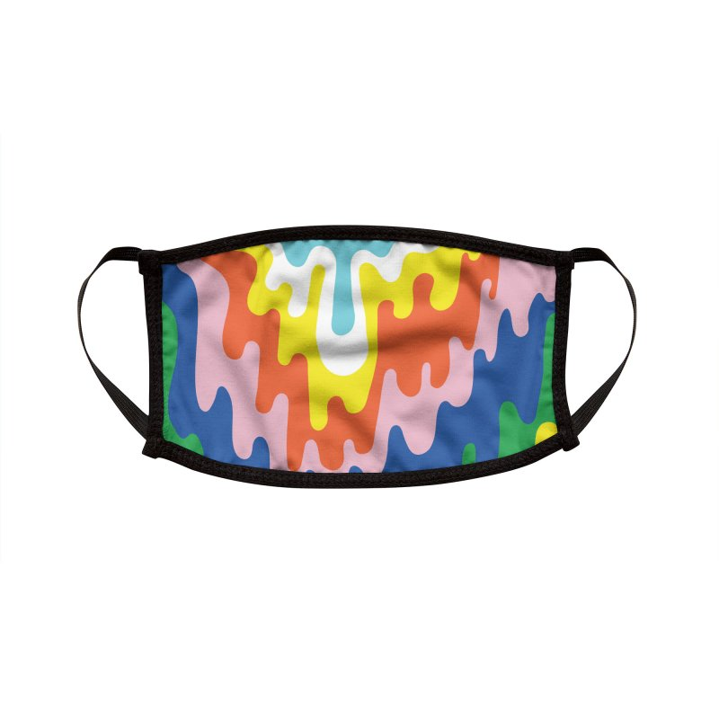 Psychedelic Meltdown Accessories Face Mask by RJ Artworks's Artist Shop