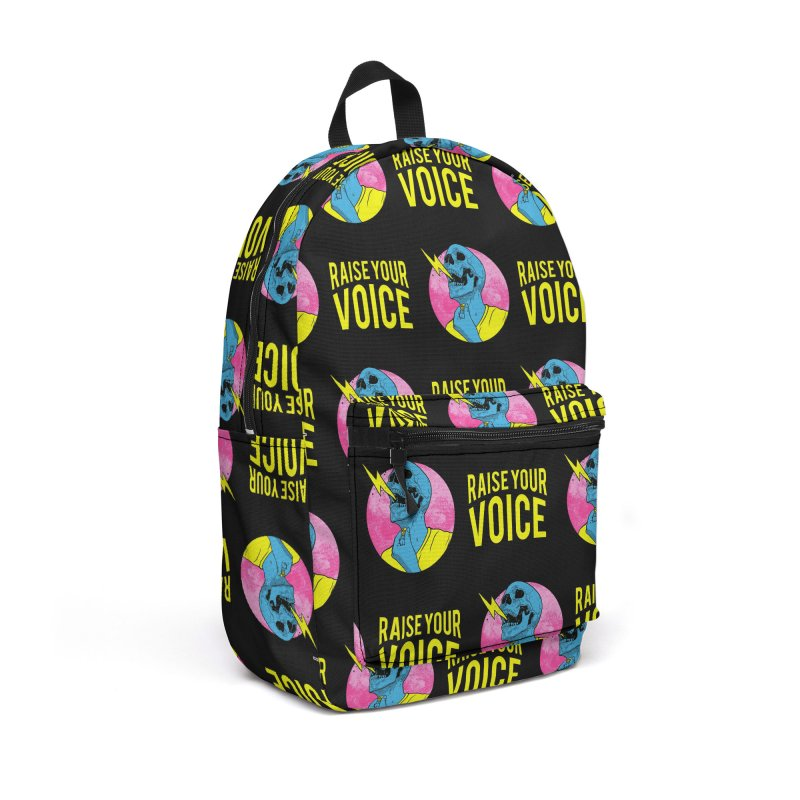 Raise Your Voice Accessories Backpack Bag by RJ Artworks's Artist Shop