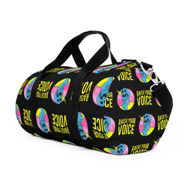 Raise Your Voice Accessories Duffel Bag Bag by RJ Artworks's Artist Shop