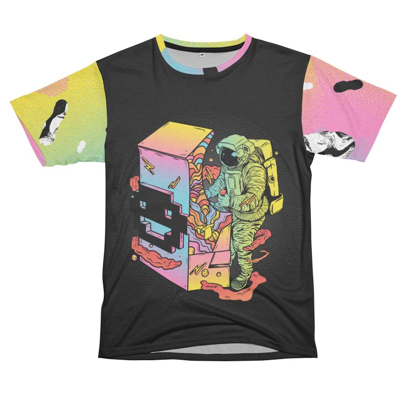 Space Arcade Women's Unisex French Terry T-Shirt Cut & Sew by RJ Artworks's Artist Shop