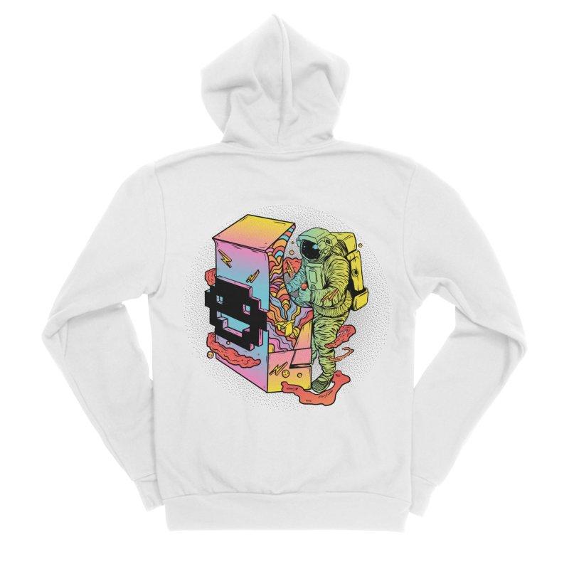 Space Arcade Women's Sponge Fleece Zip-Up Hoody by RJ Artworks's Artist Shop