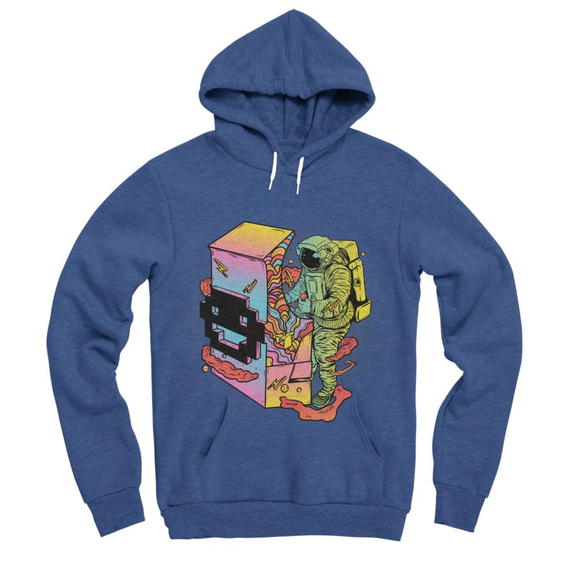 Space Arcade Women's Sponge Fleece Pullover Hoody by RJ Artworks's Artist Shop