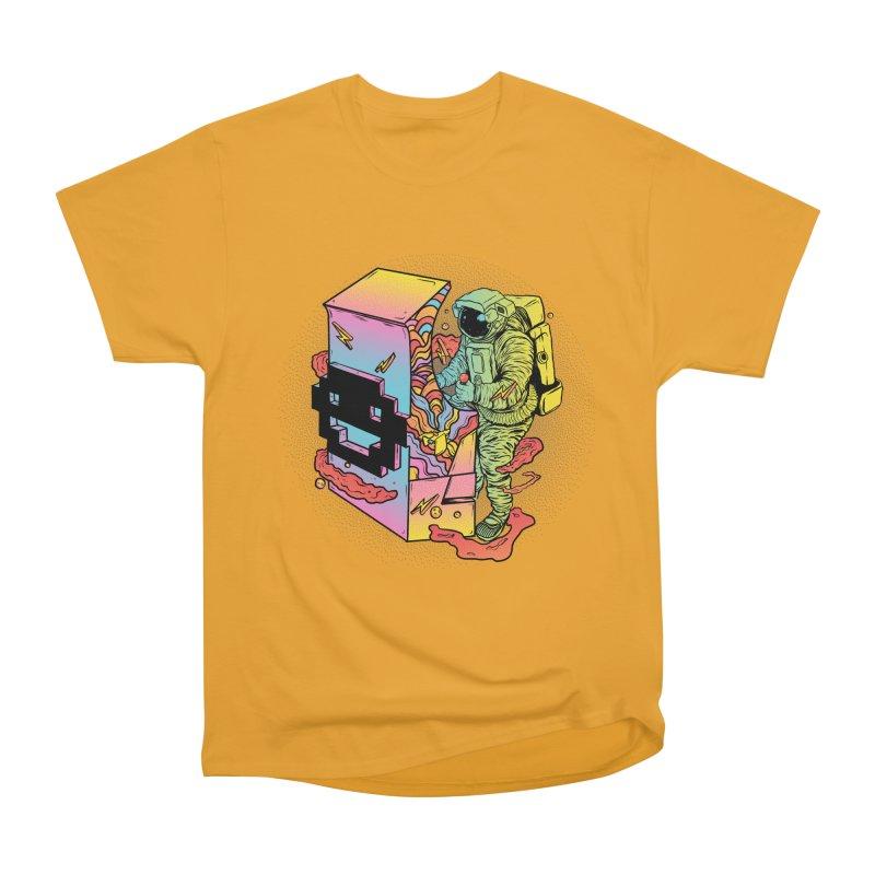 Space Arcade Men's Heavyweight T-Shirt by RJ Artworks's Artist Shop