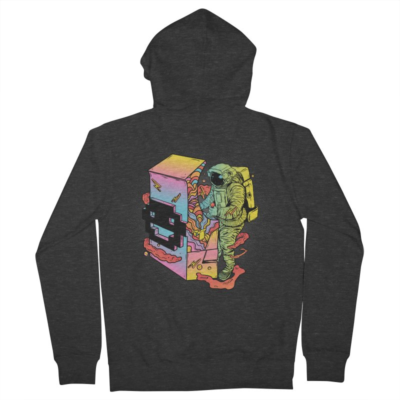 Space Arcade Women's French Terry Zip-Up Hoody by RJ Artworks's Artist Shop