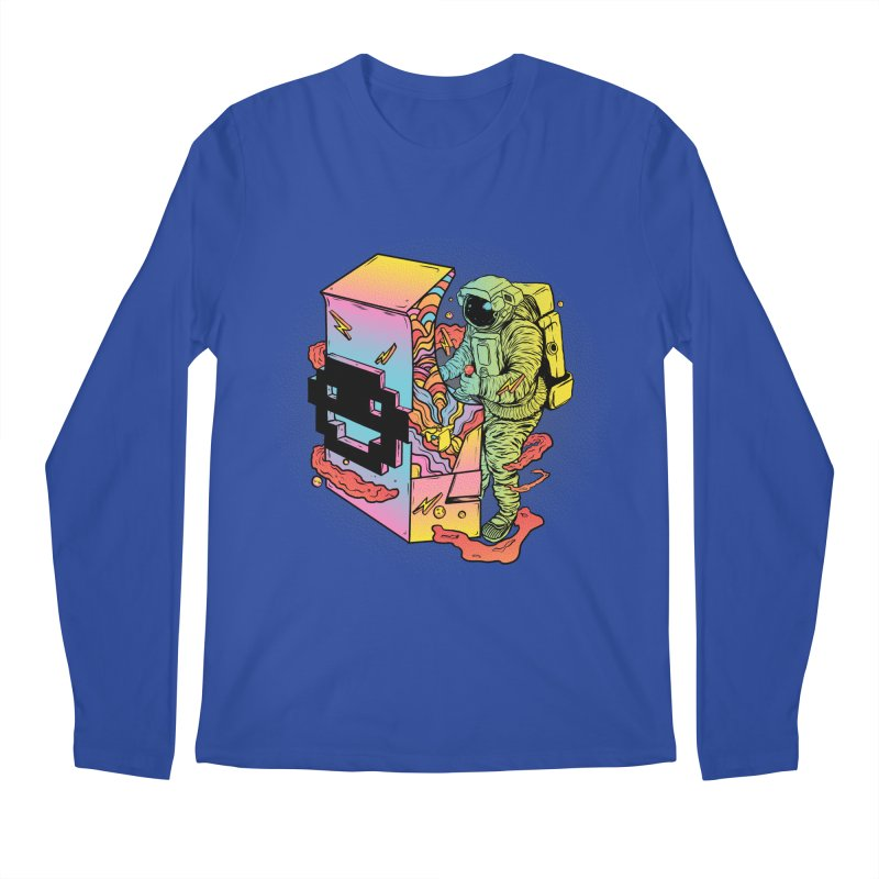 Space Arcade Men's Regular Longsleeve T-Shirt by RJ Artworks's Artist Shop
