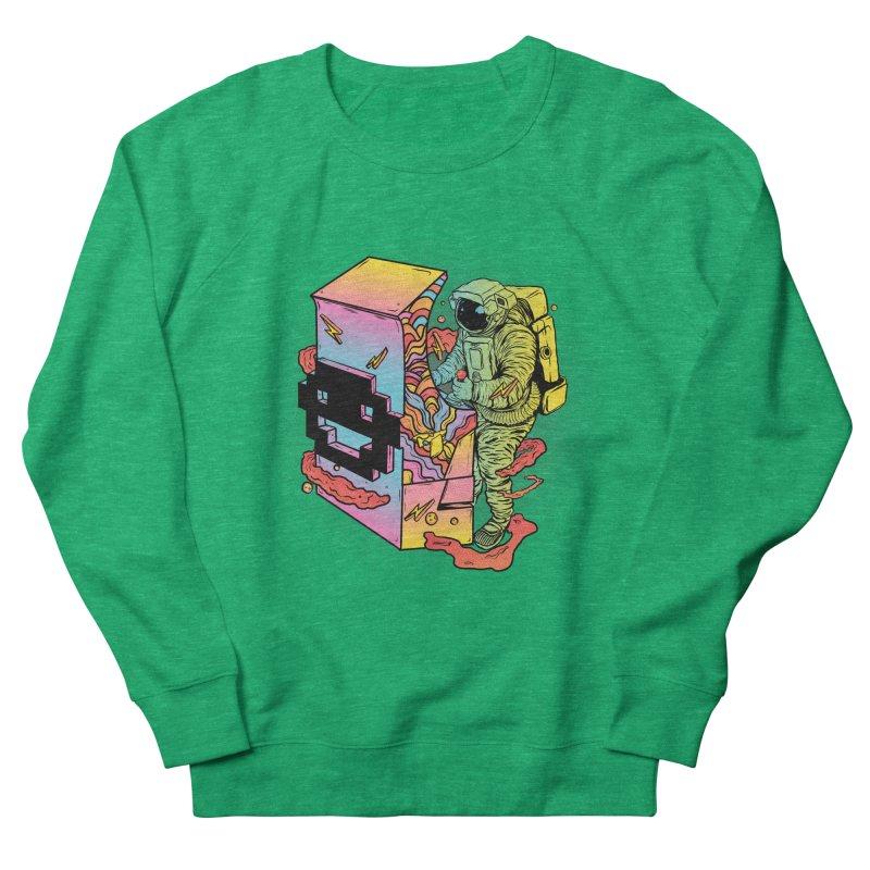 Space Arcade Women's French Terry Sweatshirt by RJ Artworks's Artist Shop