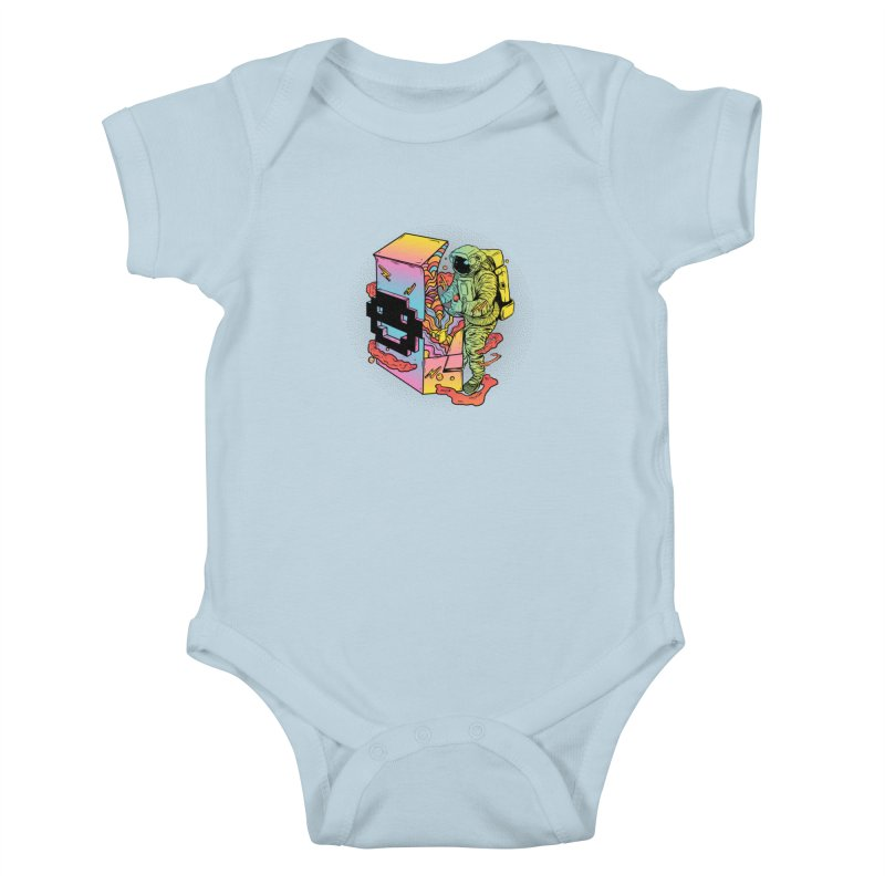 Space Arcade Kids Baby Bodysuit by RJ Artworks's Artist Shop