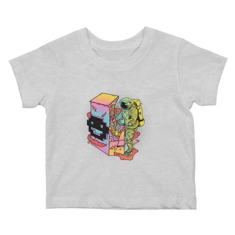Space Arcade Kids Baby T-Shirt by RJ Artworks's Artist Shop
