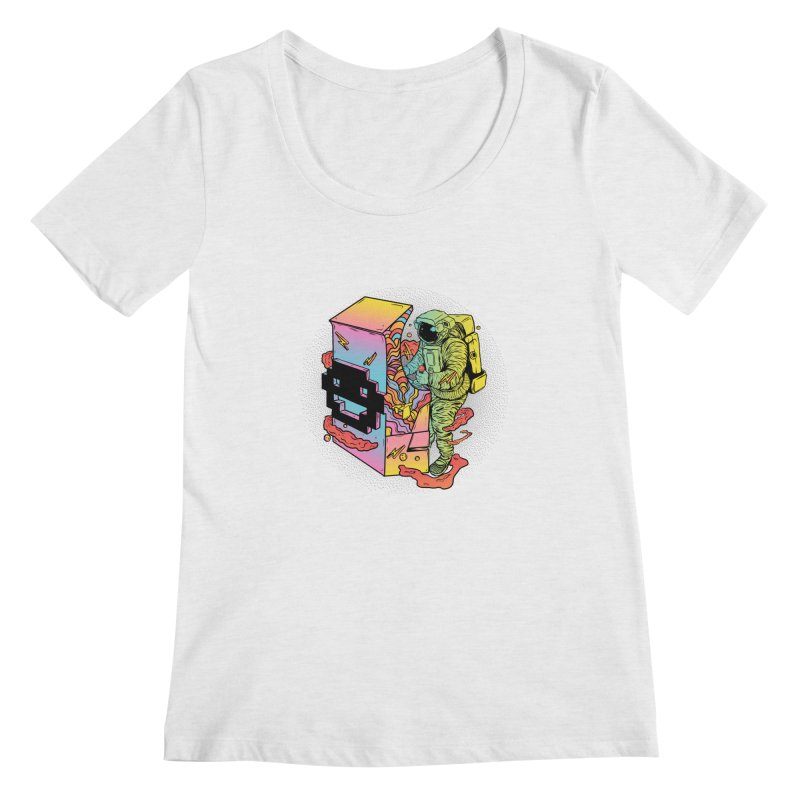 Space Arcade Women's Regular Scoop Neck by RJ Artworks's Artist Shop