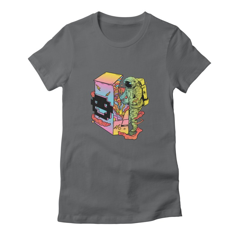 Space Arcade Women's Fitted T-Shirt by RJ Artworks's Artist Shop