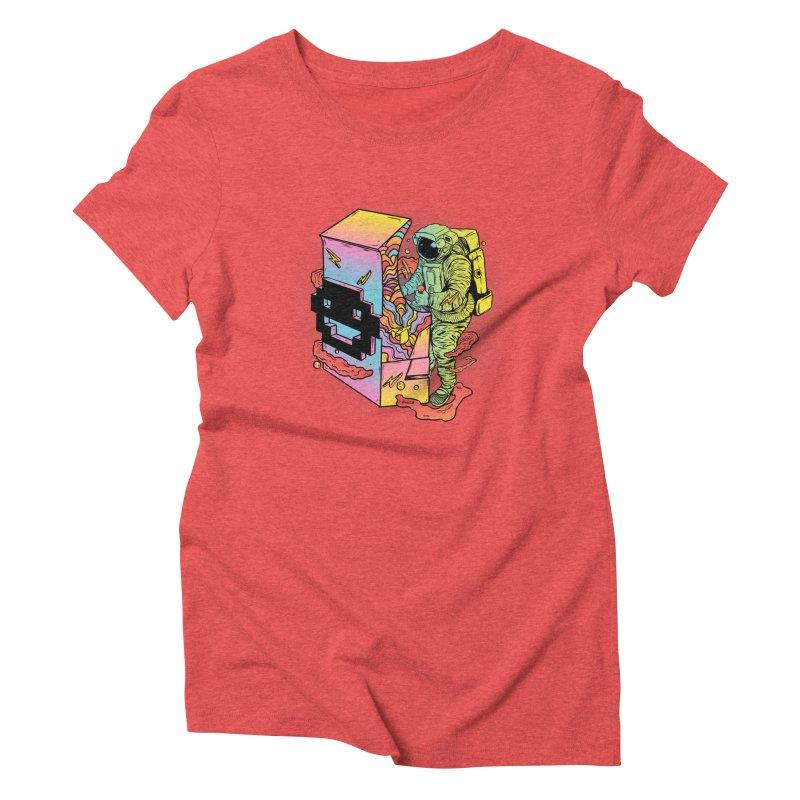 Space Arcade Women's Triblend T-Shirt by RJ Artworks's Artist Shop