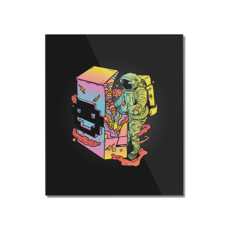 Space Arcade Home Mounted Acrylic Print by RJ Artworks's Artist Shop