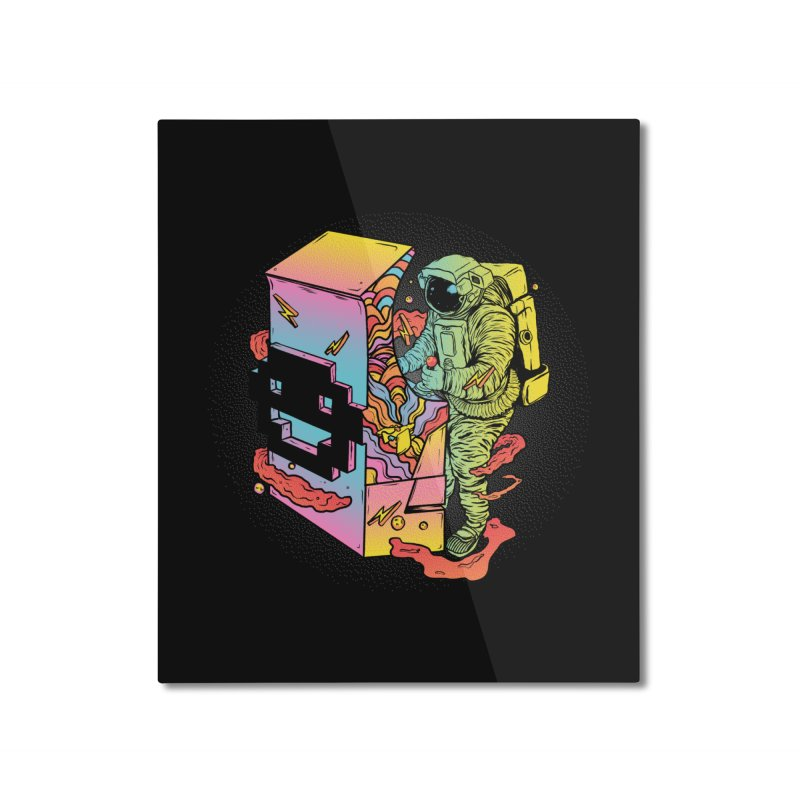 Space Arcade Home Mounted Aluminum Print by RJ Artworks's Artist Shop