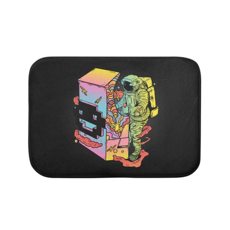 Space Arcade Home Bath Mat by RJ Artworks's Artist Shop
