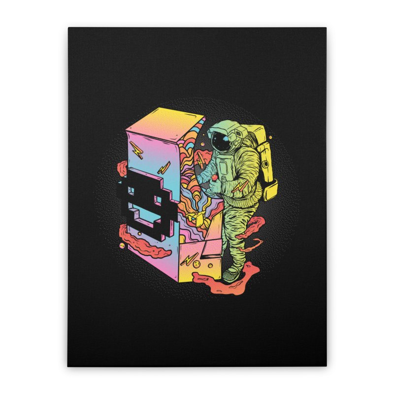 Space Arcade Home Stretched Canvas by RJ Artworks's Artist Shop