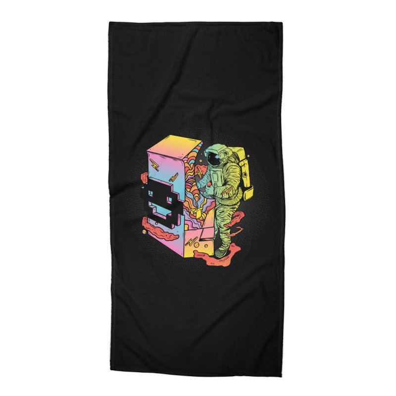 Space Arcade Accessories Beach Towel by RJ Artworks's Artist Shop