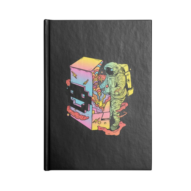 Space Arcade Accessories Lined Journal Notebook by RJ Artworks's Artist Shop