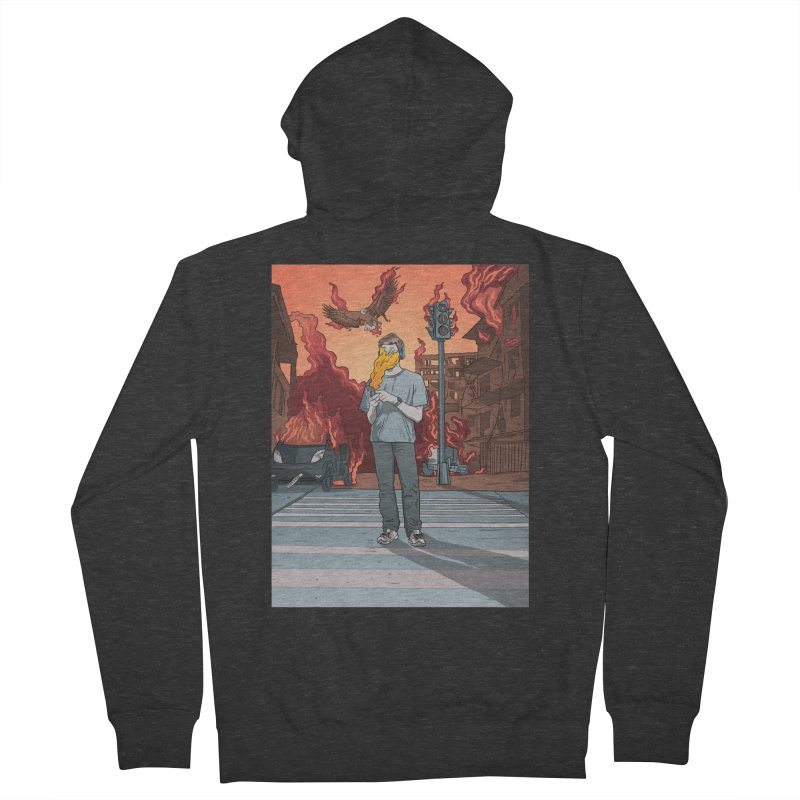 APPocalypse Men's French Terry Zip-Up Hoody by RJ Artworks's Artist Shop