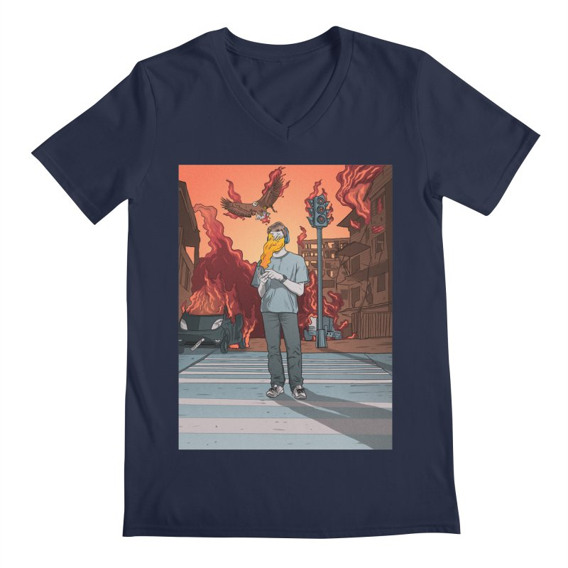 APPocalypse Men's Regular V-Neck by RJ Artworks's Artist Shop