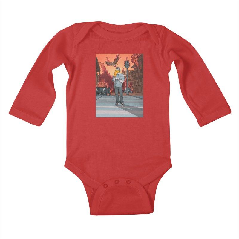APPocalypse Kids Baby Longsleeve Bodysuit by RJ Artworks's Artist Shop