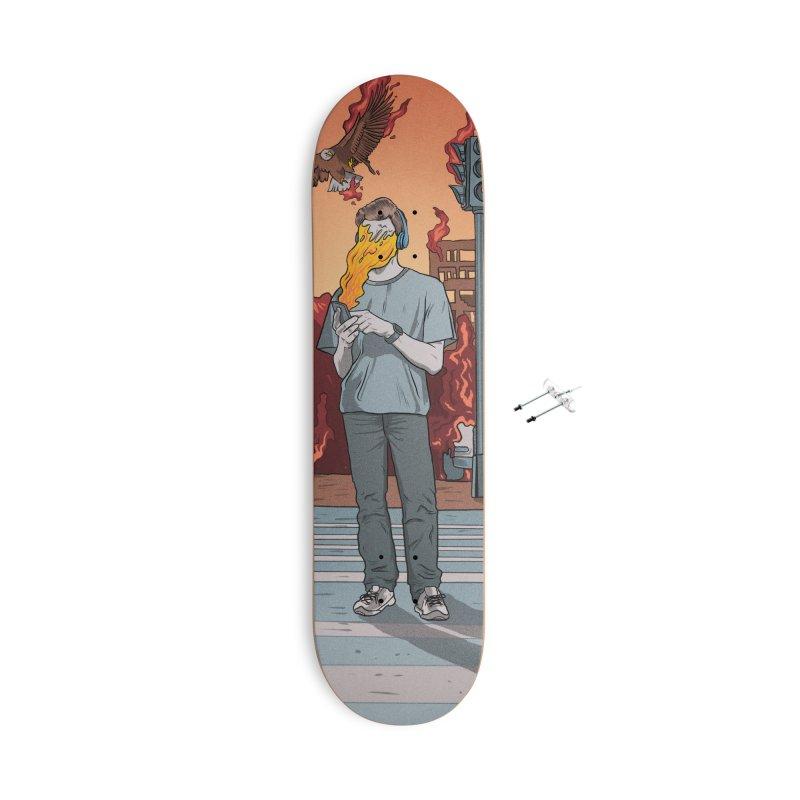 APPocalypse Accessories With Hanging Hardware Skateboard by RJ Artworks's Artist Shop