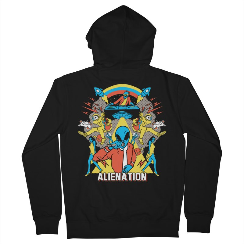 Alienation Men's French Terry Zip-Up Hoody by RJ Artworks's Artist Shop